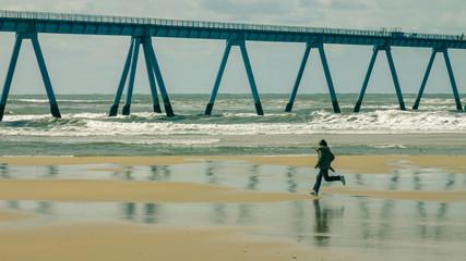 jogging sous la jetée