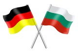 Flags: Germany and Bulgaria