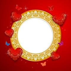 Golden background romantic Valentine's Day