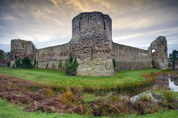 Pevensey castle, East Sussex, England