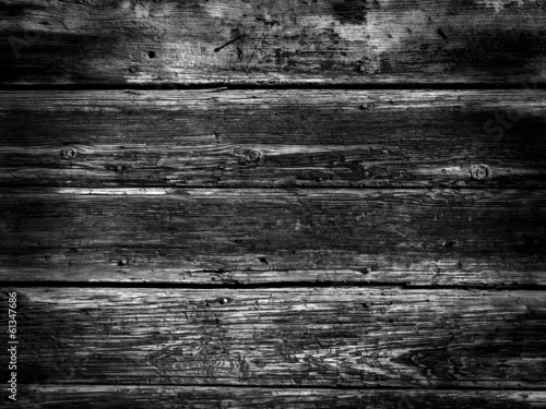 Old Wood Background - BW