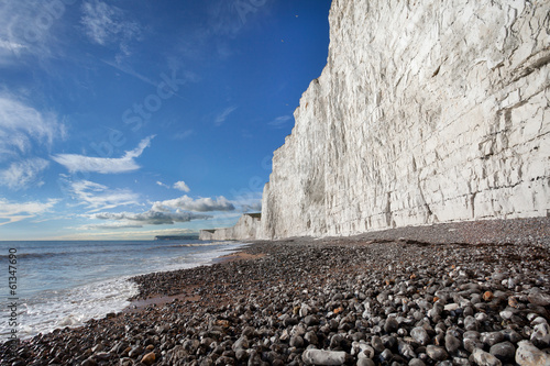 Birling Gap beach and Seven Sisters white cliffs