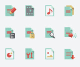 Fototapety document icons