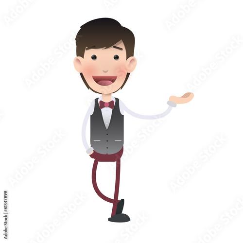Man holding something over isolated background - 61347899