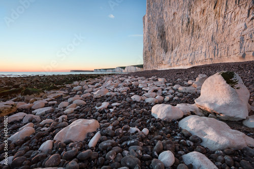 Birling Gap, Seven Sisters white cliffs at sunset