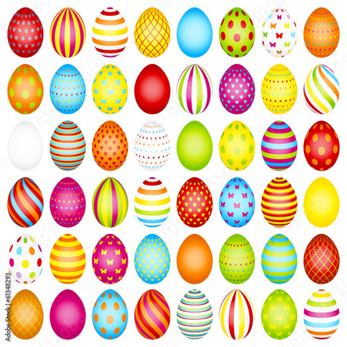 48 Slim Easter Eggs Pattern