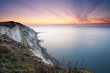 Beachy Head, colorful dawn over the sea