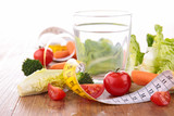 water and vegetable, healthy food