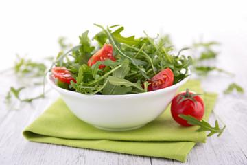 arugula and tomato