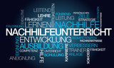 Nachhilfeunterricht Coaching Worte Tag Cloud Illustration