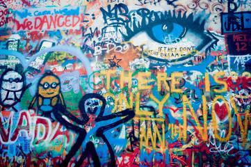 Mur John Lennon à Prague
