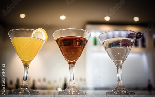 Three cocktails in a row