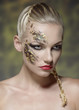 creative make-up on female visage