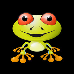 Abstract Vector Frog Illustration