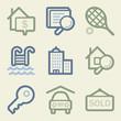Real estate web icons, money color set