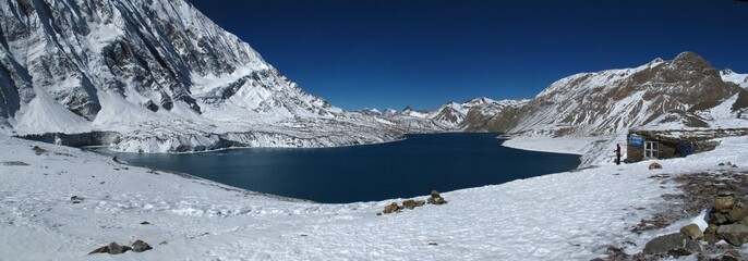 Lake Tilicho, lake situated in high altitude, Nepal