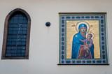 Mosaique carrelage motif religieux poster