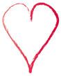 Rotes Herz - gemalte Linie