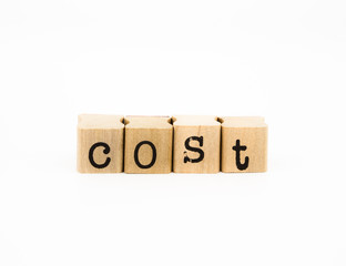 cost wording, financial and business concept
