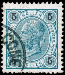 AUSTRIA - CIRCA 1899: A stamp printed in Austria shows portrait
