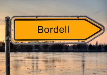 Strassenschild 9 - Bordell