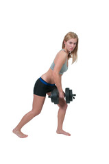Woman Working with Weights