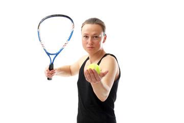 Aufschlag beim Tennis