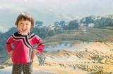Childrens of rice terraces