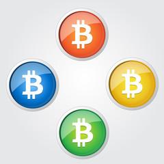 Bitcoin Vector Button Icon