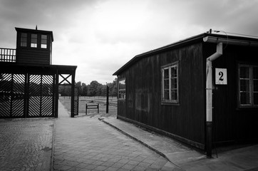 Entry gate in concentration camp Stutthof
