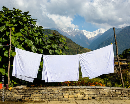 Sheets drying in the sun - 61353024