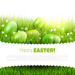 Modern green Easter background with copyspace