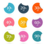Colorful Vector Discount Labels - Stickers Set