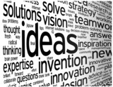 """IDEAS"" Tag Cloud (creativity innovation solutions strategy)"