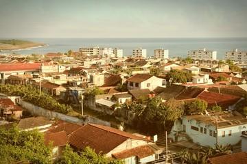 Baracoa, Cuba. Cross processed color tone - retro style.
