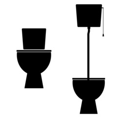 toilet vector illustration