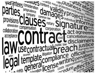 """CONTRACT"" Tag Cloud (signature agreement business partnership)"