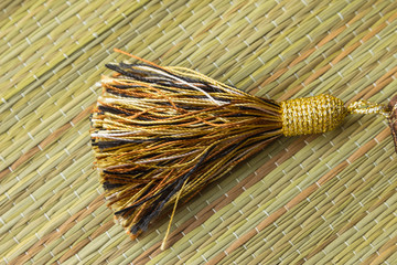 Beautiful tassels on mat  for decorated
