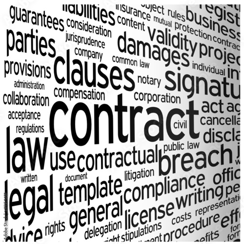 CONTRACT Tag Cloud (agreement signature terms and conditions)
