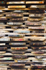 wooden boards stacked
