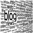 """BLOG"" Tag Cloud (social media news online website web internet)"