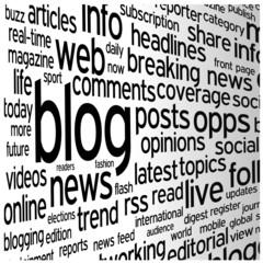 """BLOG"" Tag Cloud (social media news online website web internet)"