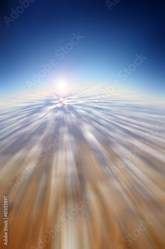 Abstract aerial motion blur background