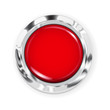 Big red button with metallic border - 61356253