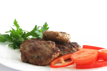 meatball with tomatoes