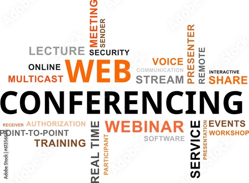word cloud - web conferencing