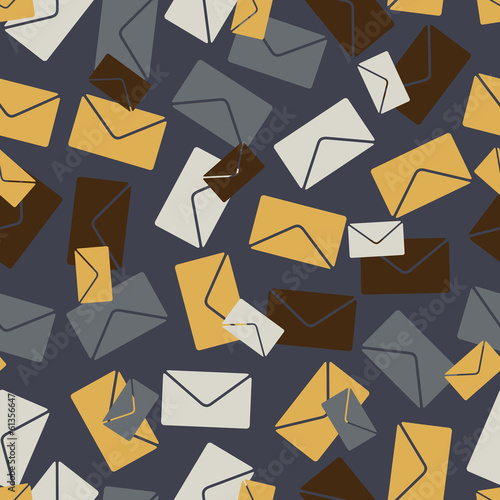 seamless background: envelope newsletter