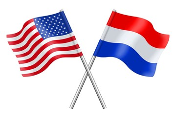 Flags: The USA and the Netherlands