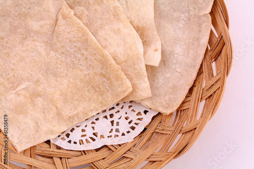 Light Flatbread in a basket