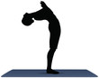 Vector Illustration of Yoga pose on a yoga mat